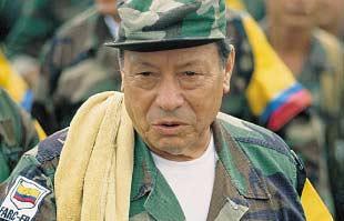 """""""Manuel Marulanda"""", comandante y uno de los fundadores de las FARC. Foto: Fariana"""