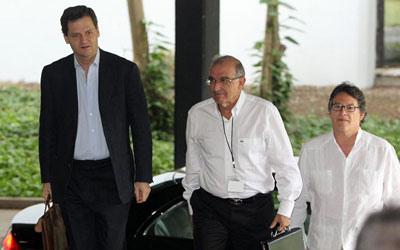 La delegación del Gobierno se enfrenta a cinco temas vitales para llegar a un acuerdo de paz con la FARC. Fuente: Telesur