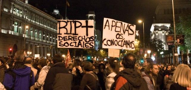 Manifestación de la huelga general el 14 de noviembre de 2012. Fuente: Balma Costa
