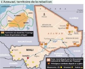 Mapa que ilustra las partes territoriales del conflicto. Fuente: biyokulule.com