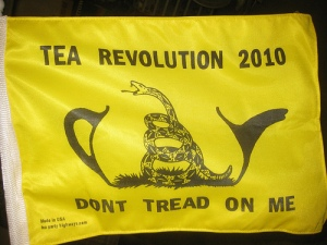 Bandera del Tea Party Movement. Fuente: Futureatlas.com