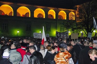 Protestas contra la corrupción en Maribor. Fuente: Jumpin'Jack