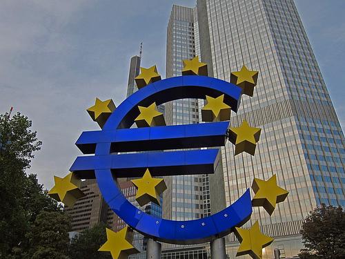 La Eurotorre, sede del BCE en Fráncfort, Alemania. Fuente: Jim D. Woodward.