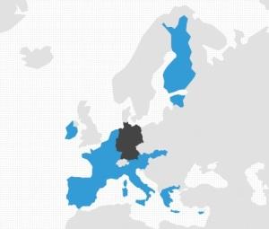 Alemania constituye la potencia hegemónica de la eurozona. Fuente:Elaboración propia.