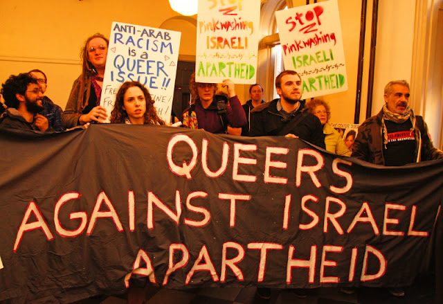 Una protesta | Fuente: http://blog.adl.org/international/a-round-up-of-israeli-apartheid-week-events