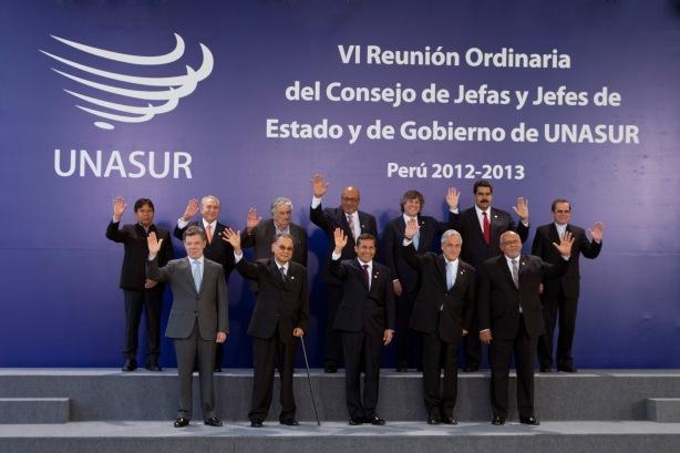 Reunión de jefas y jefes de Estado de UNASUR 2012-2013, sin ninguna mujer | Fuente: Cancillería de Ecuador