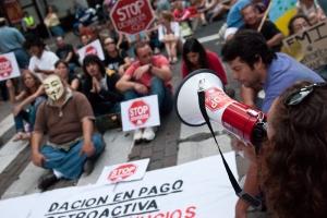 Manifestación por el derecho a la vivienda en Madrid| Fuente: Arriba las que luchan (Flickr)