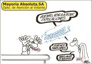 «Mayoría absoluta» | Fuente: Forges en diario El País