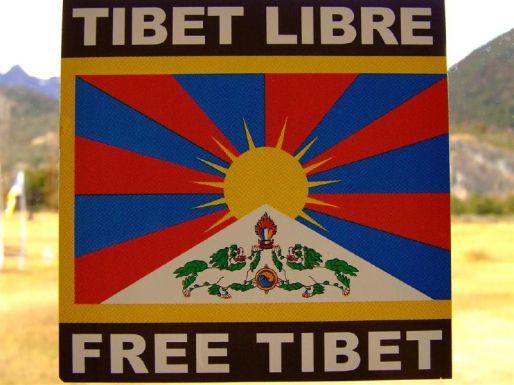 Cartel de la liberación de la región del Tíbet | Fuente: Sergio R. Núñez C.
