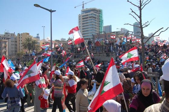Manifestación en Beirut | Fuente: Shakeeb al Jabri