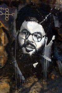 Grafiti de Hassan Nasrallah | Fuente: Thierry Erhmann