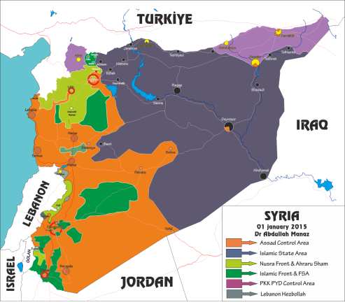 Resultado de imagen de guerra de siria mapa
