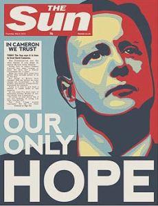 """David Cameron la """"única esperanza"""" del diario The Sun. / Fuente: I See Modern Britain"""
